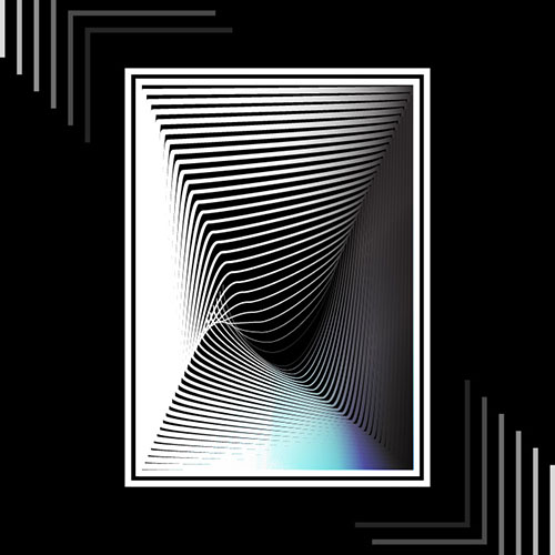 """A digital art piece called, """"Abstract Lines"""""""