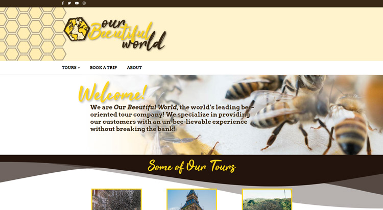 Our Beeutiful World Home Page