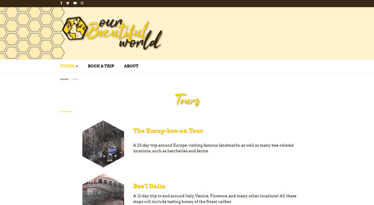 Our Beeutiful World Tours Page