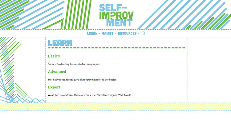 Self Improvment Learn Page